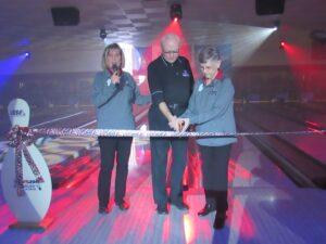 Cutting the Ribbon,State President Merry DeBoer, Metro Detroit President George Bresinski, Associatiion Manager Sharon Schildroth